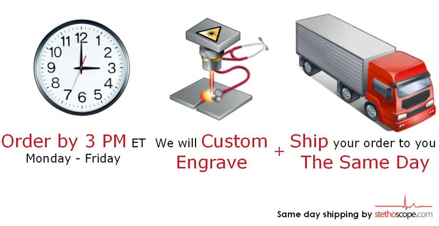 Order by 3PM ET Monday - Friday We will custom engrave and ship to you same day