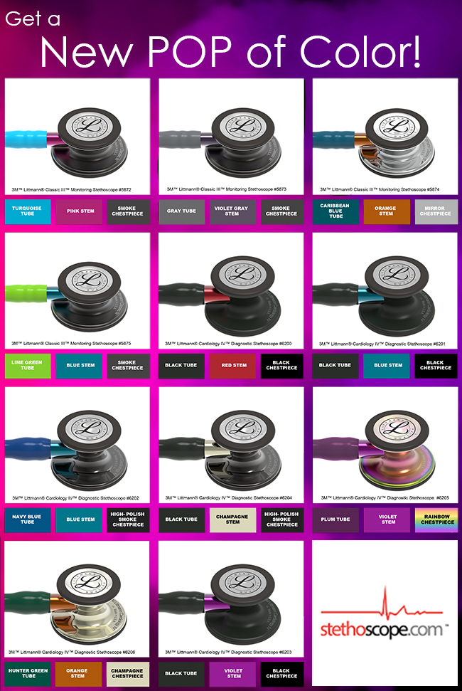 New Littmann Colors at Stethoscope.com